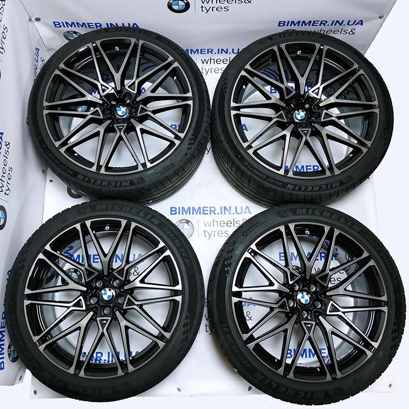 "BIMMER | Комплект колес: 21""-22"" диски BMW(БМВ) X5M (F95) X6M (F96), стиль (styling) 818 M, OEM 8093563 8093564 + шины Michelin"